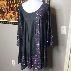 Black and purple tunic
